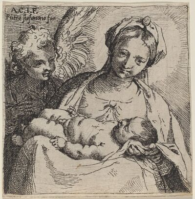 Annibale Carracci, 'Madonna and Child with an Angel', 1590/1595