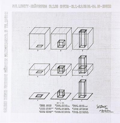 Sol LeWitt, ' Galerie Heiner Friedrich Exhibition ', 1967