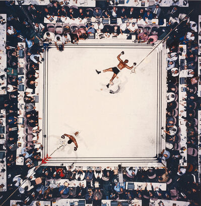 Neil Leifer, 'Aerial of Muhammad Ali victorious after his round two knockdown of Cleveland Williams during the 1966 World Heavyweight Title fight at the Astrodome, Houston, Texas, November 14', 1966