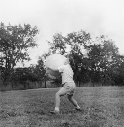 Peter Hujar, 'Girl Throwing Ball, Southbury (I)', 1957