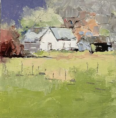 Sandra Pratt, 'Summer Barn (White House)', 2020