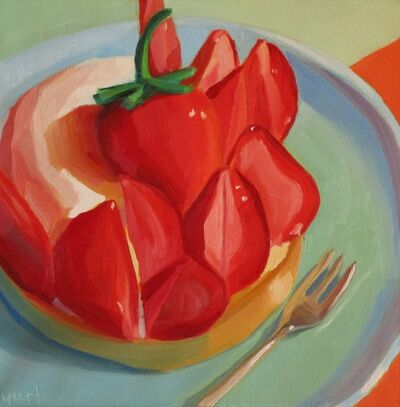 Yuri Tayshete, 'Farmers Market Strawberries & Cream Tart', 2019