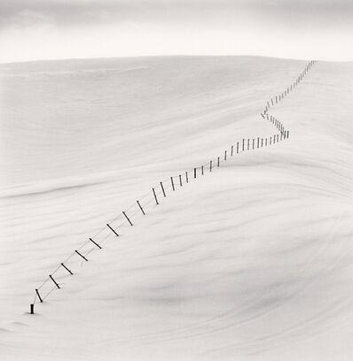 Michael Kenna, 'Hillside Fence, Study 7, Teshikaga, Hokkaido, Japan', 2004