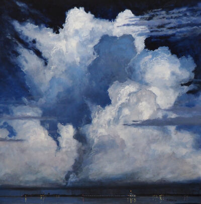 Billy Solitario, 'Criss Cross Clouds over Tug and Barge'