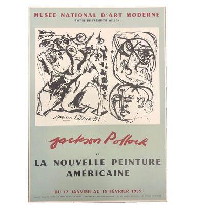 """Jackson Pollock, '""""Jackson Pollock et la Nouvlle Peinture Americaine"""", 1959, Exhibition Poster, Musee National D'Art Paris,', 1959"""