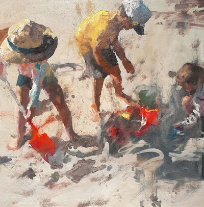 C.W. Mundy, 'Children at the Beach–Beach Party ', 2010-2020