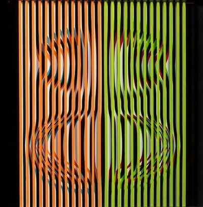 Stefano Ferracci, 'Cromo interferenze cinetico', 2008