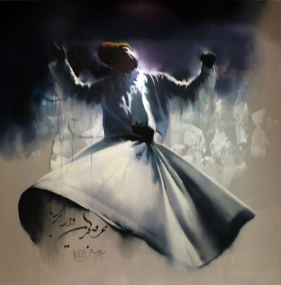 Hossein Irandoust, 'Whirling Darvish in the Darkness', 2020