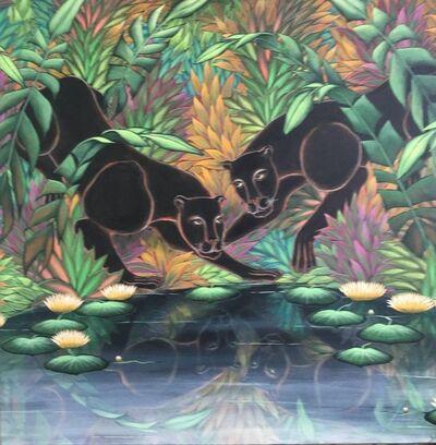 "Gustavo Novoa, '""Soul Searching"" Large Jungle Painting Gustavo Novoa', 20th Century"