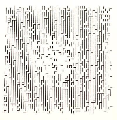 Frieder Nake, '4.11.66 Nr. 1 Serie 2.1-6', 1966