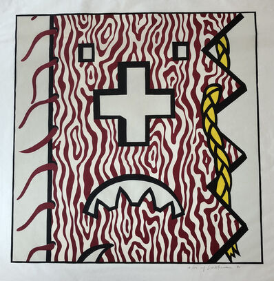 Roy Lichtenstein, 'American Indian Theme IV from American Indian Theme Series (C. 163)', 1980