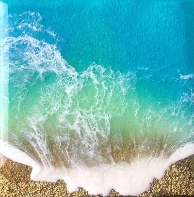 Ana Hefco, 'Teal Waves - Love', 2020