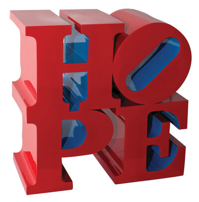 Robert Indiana, 'HOPE Red/Blue', 2009