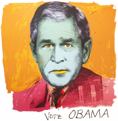 RJ Berman & John Colao, 'Homage to Andy, Vote OBAMA', 2008