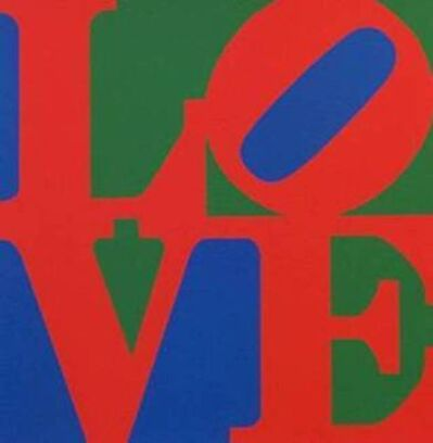 Robert Indiana, 'LOVE (Blue Red Green)', 1996