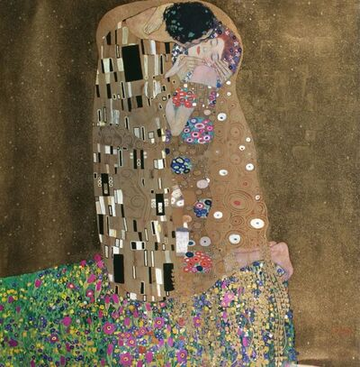 Gustav Klimt, 'The Kiss', 1982