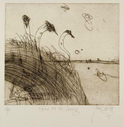 John Olsen (b.1928), 'Emus at the Coorong', 2005