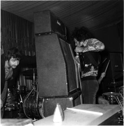 Roberto Rabanne, 'Jimi Hendrix, Pushing Speaker Against Manager Frank Michael Jeffrey ', March 19, 1967 Marquis Club, London
