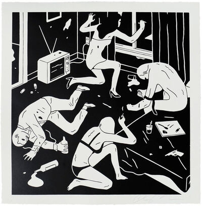 Cleon Peterson, 'Junky (White)', 2015