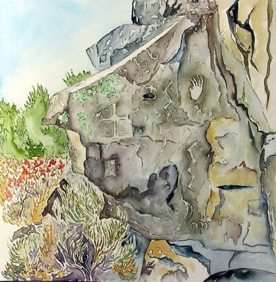 Scott Winterrowd, 'Anthropomorphic Head, Petroglyphs near Taos ', 2015