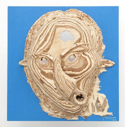 Aimé Mpane, 'La Demoiselle Pende / Masque Bi-face Picasso-Pende #20', 2014