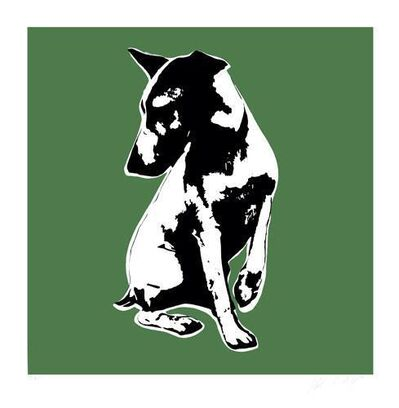 Blek le Rat, 'His Masters Voiceless (Green)', 2008