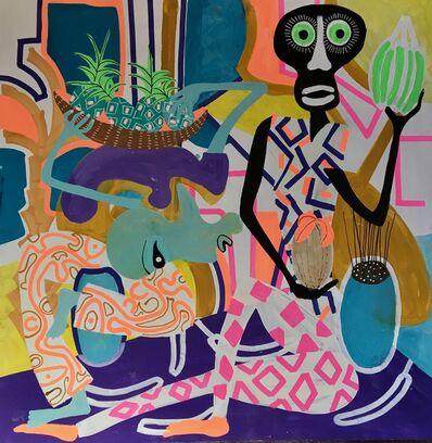 Frantisek Florian, 'African figures 11', 2019