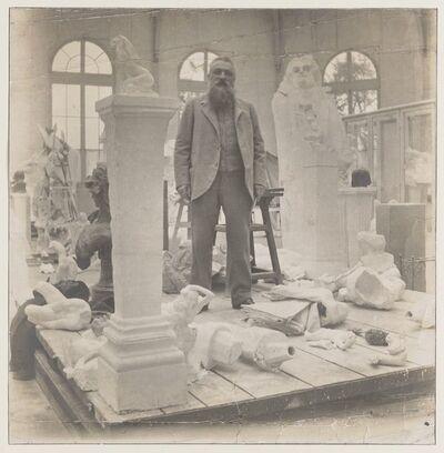 Eugène Druet, 'Rodin au milieu de ses œuvres dans le Pavillon de l'Alma à Meudon (Rodin among his works at the Pavillon de l'Alma)', c. 1902