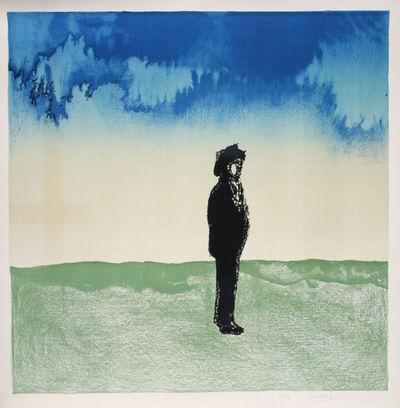Saul Steinberg, 'Man in Landscape', 1975