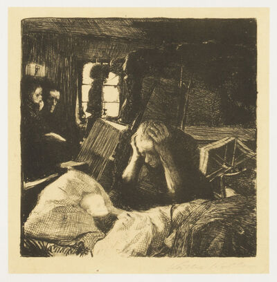 Käthe Kollwitz, 'Poverty', 1893-1897