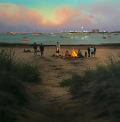 Scott Prior, 'Twilight Fire on the Harbor', 2018