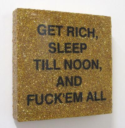 Andrea Stanislav, 'Sleep till Noon (Gold)', 2017