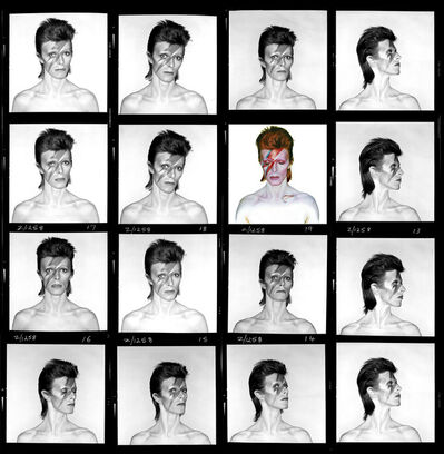 Brian Duffy, 'David Bowie. Aladdin Sane (Contact Sheet)', 1973
