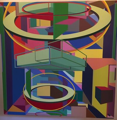 Al Held, 'Quadron II', 1986