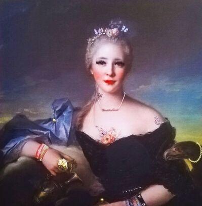 Helen Gørrill, 'Portrait of Madame Le Fevre de Caumartin as Hebe 1753 - 2018 ('Fuck the Tories')', 2018