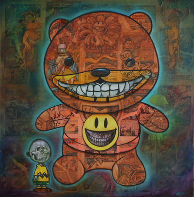 Ron English, 'Collage Teddy Grin', 2018