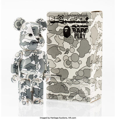 BE@RBRICK X BAPE, 'BAPE Play Camo 400% (Grey)', 2008