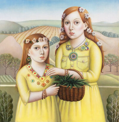 Amy Hill, 'Two Girls in Yellow', 2018