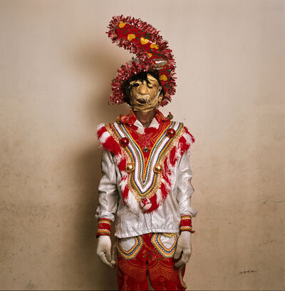 Phyllis Galembo, 'Fancy Dress with Rubber Mask, Tumus Masquerade Group, Ghana', 2009