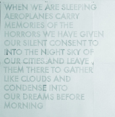 Robert Montgomery, 'Watercolor From Words in the City at Night (When we are Sleeping)', 2009