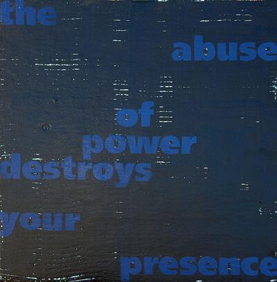 Jo Felber, 'Vom Stand Der Dinge (blue)', 2003