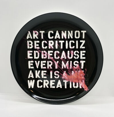 Mr. Brainwash, ''Art Cannot Be Criticized' plate', 2020