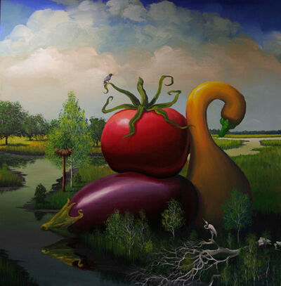 Bill Mead, 'Eggplant, Tomato, and Squash', 2014