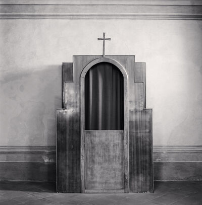 Michael Kenna, 'Confessional, Study 49, Chiesa di Santa Maria Assunta, Monozzo, Reggio Emilia, Italy', 2015