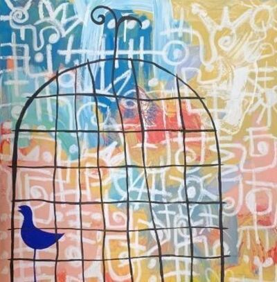 Victor Ekpuk, 'Blue Bird', 2021
