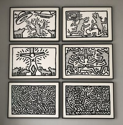 Keith Haring, 'Untitled (1-6: Complete Suite) 1982', 1982