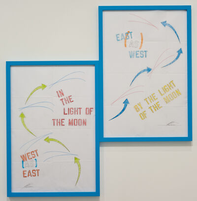 Lawrence Weiner, 'WEST [AS] EAST EAST [AS] WEST', 2012