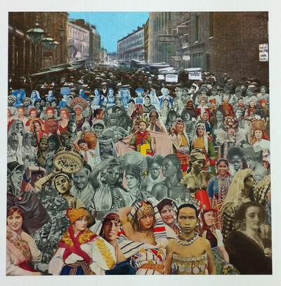 Peter Blake, 'London- Petticoat Lane- One Hundred Women ', 2012