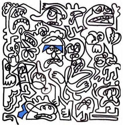 Mr. Doodle, 'Unhappy Friends', 2018