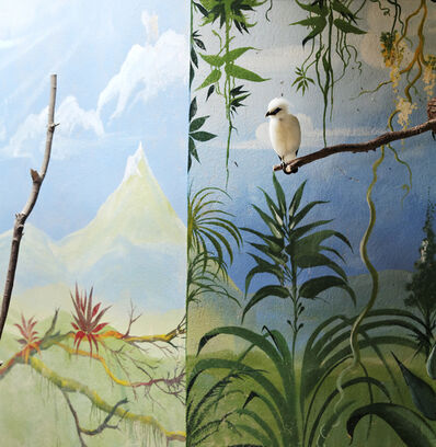 Eric Pillot, 'Bali Starling and Mountain', 2014